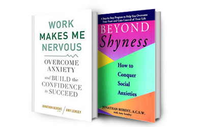 Books Work Makes Me Nervous and Beyond Shyness by Jonathan Berent and Amy Lemley